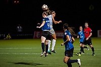 Kansas City, MO - Saturday July 22, 2017: Becky Sauerbrunn, Lynn Williams during a regular season National Women's Soccer League (NWSL) match between FC Kansas City and the North Carolina Courage at Children's Mercy Victory Field.