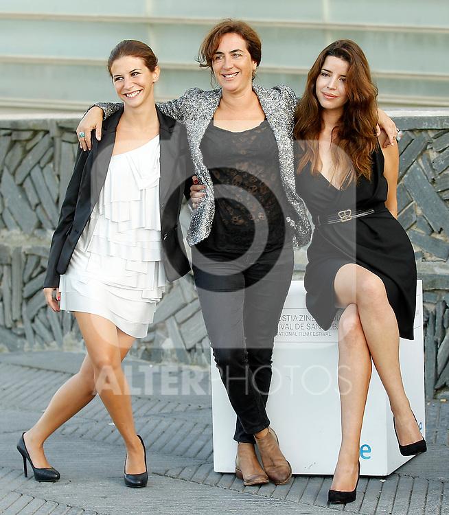Portuguese actresses Anabela Moreira (R), Rita Blanco (C) and Cleia Almeida (L) during the 59th San Sebastian Donostia International Film Festival - Zinemaldia.September 21,2011.(ALTERPHOTOS/ALFAQUI/Acero)