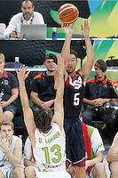Slovenia's Domen Lorbek (l) and USA's Klay Thompson during 2014 FIBA Basketball World Cup Quarter-Finals match.September 9,2014.(ALTERPHOTOS/Acero)