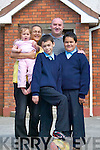 Chulainn Lewis-Lavery from Moyvane pictured with his mother Pamela Lewis-Broughan and sister Elisha Broughan, with Barry Broughan and Chulainn's brother Eoghan Lewis-Lavery.   Copyright Kerry's Eye 2008