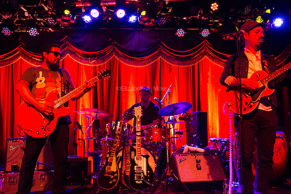 The funk band Brownout performs at Brooklyn Bowl in Williamsburg, Brooklyn, New York on September 5th, 2014.