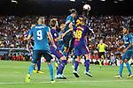 Supercopa de Espa&ntilde;a - Ida.<br /> FC Barcelona vs R. Madrid: 1-3.<br /> Benzema, Rakitic, Bale, Umtiti &amp; Jordi Alba.