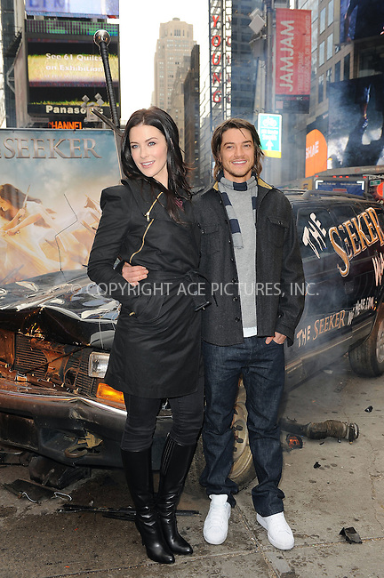 WWW.ACEPIXS.COM . . . . . ....Novemeber 5 2009, New York City....Actors Bridget Regan and Craig Horner at the 'Legend of The Seeker, The Sword of Truth' unveiling at Military Island, Times Square on November 5, 2009 in New York City.....Please byline: KRISTIN CALLAHAN - ACEPIXS.COM.. . . . . . ..Ace Pictures, Inc:  ..tel: (212) 243 8787 or (646) 769 0430..e-mail: info@acepixs.com..web: http://www.acepixs.com