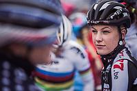 Annemarie Worst (NED/Steylaert 777) pre race.<br /> <br /> Women's race.<br /> Koppenbergcross Belgium 2018