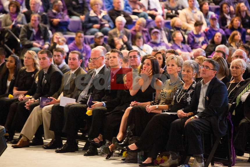 The memorial service for former University of Washington football coach Don James at Alaska Airlines Arena on Sunday October 27, 2013. (Photo by Scott Eklund/Red Box Pictures)