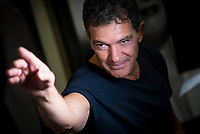 Spanish actor Antonio Banderas during the presentation of the new App 'Vibuk' at Palacio de la Prensa in Madrid, Spain September 12, 2017. (ALTERPHOTOS/Borja B.Hojas)