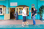 Makawao Town, Maui, HI Locals chatting outiside one of the art galleries that abound in this upcountry village.