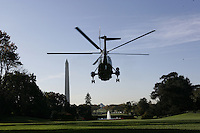 President Bush: White House South Lawn departure en route Quantico, Virginia.
