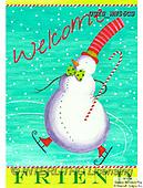 Ingrid, CHRISTMAS SANTA, SNOWMAN, WEIHNACHTSMÄNNER, SCHNEEMÄNNER, PAPÁ NOEL, MUÑECOS DE NIEVE, paintings+++++,USISWN56CS,#X#