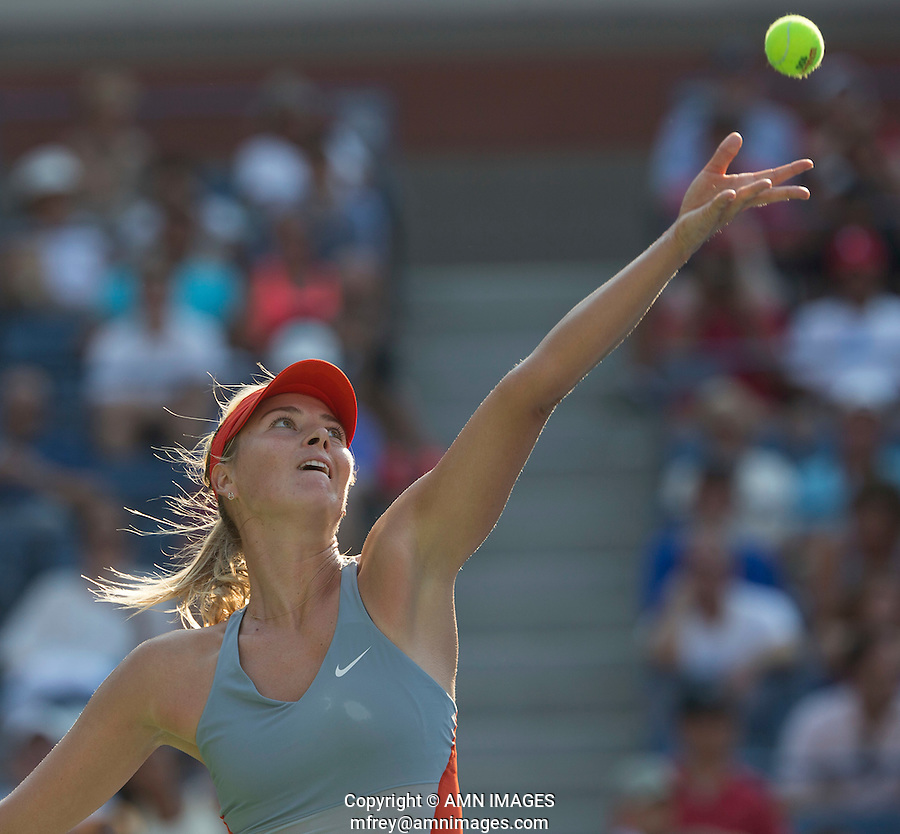 MARIA SHARAPOVA (RUS)<br /> The US Open Tennis Championships 2014 - USTA Billie Jean King National Tennis Centre -  Flushing - New York - USA -   ATP - ITF -WTA  2014  - Grand Slam - USA  27th August 2014. <br /> <br /> &copy; AMN IMAGES