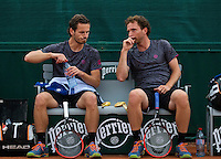Paris, France, 24 June, 2016, Tennis, Roland Garros,  Doubles: Wesley Koolhof/Matwe Middelkoop (R) (NED) <br /> Photo: Henk Koster/tennisimages.com