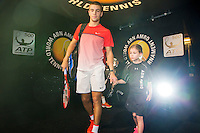 Rotterdam, The Netherlands, Februari 8, 2016,  ABNAMROWTT, escorts with Coric <br /> Photo: Tennisimages/Henk Koster