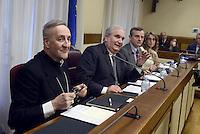 Roma, 9 Marzo 2015<br /> Monsignor Antonio Mennini e Giuseppe Fioroni<br /> Commissione parlamentare di inchiesta sul rapimento e sulla morte di Aldo Moro,audizione del nunzio apostolico in Gran Bretagna, Monsignor Antonio Mennini.