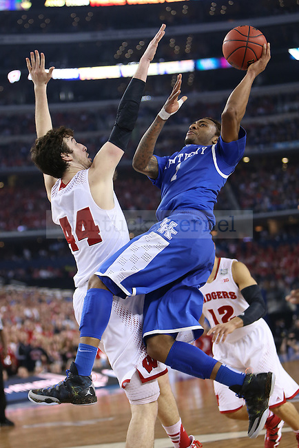 Kentucky Wildcats guard/forward James Young (1) shoots the ball during the NCAA Final Four vs. Wisconsin at the AT&T in Arlington, Tx., on Saturday, April 5, 2014. Photo by Emily Wuetcher | Staff