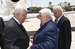Palestinian President Mahmoud Abbas meets with Syrian Foreign Minister Walid Moaalem, in The Syrian Capital of Damascus.