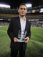 DC United forward from the 1996 squad Raul Ignacio Diaz Arce gets inducted into the DC United Hall of Fame.  The Seattle Sounders FC defeated DC United 2-1at RFK Stadium, Saturday September 12 , 2009.
