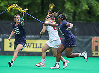 College Park, MD - May 19, 2018: Maryland Terrapins Megan Whittle (23) scores a goal during the quarterfinal game between Navy and Maryland at  Field Hockey and Lacrosse Complex in College Park, MD.  (Photo by Elliott Brown/Media Images International)