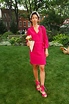 "Rocha Millinery hat designer Rosael Torres Davis, attends the Lela Rose Resort 2018 ""Garden Party"" collection presentation in Jefferson Market Garden on June 7 2017, during Resort Fashion Week in New York City."