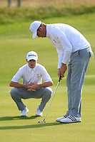 Paul Kenner and Sean Towndrow (ENG) during the Home Internationals day 2 foursomes matches supported by Fairstone Financial Management Ltd. at Royal Portrush Golf Club, Portrush, Co.Antrim, Ireland.  13/08/2015.<br /> Picture: Golffile   Fran Caffrey<br /> <br /> <br /> All photo usage must carry mandatory copyright credit (© Golffile   Fran Caffrey)