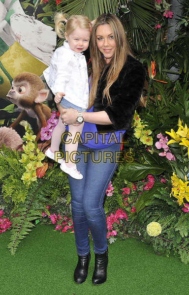 LONDON, ENGLAND - MARCH 30: Michelle Heaton &amp; her daughter Faith attend the &quot;Rio 2&quot; VIP film screening, Vue West End cinema, Leicester Square, on Sunday March 30, 2014 in London, England, UK.<br /> CAP/CAN<br /> &copy;Can Nguyen/Capital Pictures