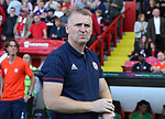 Dean Smith manager of Brentford  during the English championship league match at Bramall Lane Stadium, Sheffield. Picture date 5th August 2017. Picture credit should read: Jamie Tyerman/Sportimage