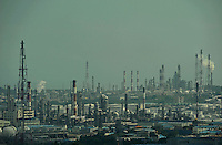 Petrochemical plants in Ulsan South Korea  September, 2010. The largest petrochemical industries are located in the USA and Western Europe, however, major growth in new production capacity is in the Middle East and Asia, there are more than 100 petrochemical companies are operating in Ulsan City.<br /> 03 Sep 2010