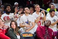 College Park, MD - DEC 29, 2016: Maryland Terrapins fans are pumped up after Maryland erased a 19 point deficit in the game between No. 1 UConn and the No. 3 Terrapins at the XFINITY Center in College Park, MD. UConn defeated Maryland 87-81. (Photo by Phil Peters/Media Images International)