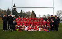 The Canada team poses for a team photo after the 2017 International Women's Rugby Series rugby match between Canada and Australia Wallaroos at Smallbone Park in Rotorua, New Zealand on Saturday, 17 June 2017. Photo: Dave Lintott / lintottphoto.co.nz