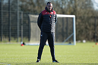 Manager Paul Clement observes the training session during the Swansea City Training at The Fairwood Training Ground, Swansea, Wales, UK. Friday 15 December 2017