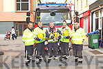 FIRE SERVICE: Member's of the Kerry Fire Service who took part in the accident and rescue simulation at the Square, Tralee on Saturday l-r:Maurice Griffin, Brian McKivergan, John Fitzgerald, Bill Lawlor and Nathan Tadier.
