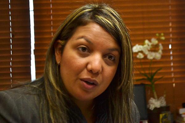 Angeli Páez, Ex-directora de relaciones públicas de la dirección de pasaportes, donde fue destituida ilegalmente al ser empleada de carrera administrativa.Santo Domingo, República Dominicana.Fotografía: © Juan Camilo Cortés.