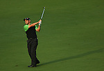 AUGUSTA, GA- APRIL 12:  Trevor Immelman of South Africa hits off the 15th fairway during a the 3rd round of the 2008 Masters on April 12, 2008 at Augusta National Golf Club in Augusta, Georgia. (Photo by Donald Miralle)