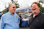 Sept. 22, 2012 - Bellmore, New York U.S. - New York State Assemblyman DAVID MCDONOUGH (Republican - Assembly District 19) of Merrick, speaks with area resident at the 26th Annual Bellmore Family Street Festival, where more people than the well over 120,000 who attended last year are expected, according to the Festival Coordinator.
