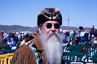 Paul the Mountain Man at the ceremony celebrating the 150th anniversary of the completion of the Transcontinental Railroad at the Golden Spike National Historic Site in Promentory, Utah.