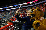 KANSAS CITY, KS - DECEMBER 14: Penn State University fans pose with the mascot prior to the Division I Women's Volleyball Semifinals held at Sprint Center on December 14, 2017 in Kansas City, Missouri. (Photo by Tim Nwachukwu/NCAA Photos via Getty Images)