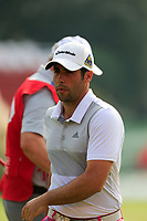 Adrian Otaegui (ESP) on the 18th green during the 2nd round at the WGC HSBC Champions 2018, Sheshan Golf CLub, Shanghai, China. 26/10/2018.<br /> Picture Fran Caffrey / Golffile.ie<br /> <br /> All photo usage must carry mandatory copyright credit (&copy; Golffile | Fran Caffrey)