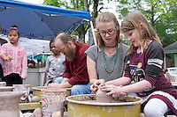 Cotton District Arts Festival (CDAF): Art Department pottery lessons.<br />  (photo by Megan Bean / &copy; Mississippi State University)