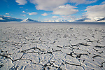 Norway, Svalbard, ice breaking up in fjord in late spring