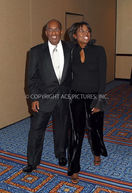 12th Annual Magical Birthday Bash to benefit the Christopher Reeve Paralysis Foundation at the Marriott Marquis. Pictured are: Al Rocker and Deborah Roberts. New York, September 25, 2002. Please byline: Alecsey Boldeskul/NY Photo Press.   ..*PAY-PER-USE*      ....NY Photo Press:  ..phone (646) 267-6913;   ..e-mail: info@nyphotopress.com