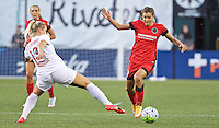 Portland, OR - Sunday Sept. 11, 2016: Abigail Dahlkemper, Tobin Heath during a regular season National Women's Soccer League (NWSL) match between the Portland Thorns FC and the Western New York Flash at Providence Park.