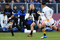 Tom Homer of Bath Rugby goes on the attack. Heineken Champions Cup match, between Bath Rugby and Wasps on January 12, 2019 at the Recreation Ground in Bath, England. Photo by: Patrick Khachfe / Onside Images