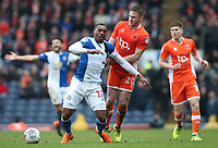 Blackburn Rovers' Amari'i Bell and Blackpool's Oliver Turton<br /> <br /> Photographer Rachel Holborn/CameraSport<br /> <br /> The EFL Sky Bet League One - Blackburn Rovers v Blackpool - Saturday 10th March 2018 - Ewood Park - Blackburn<br /> <br /> World Copyright &copy; 2018 CameraSport. All rights reserved. 43 Linden Ave. Countesthorpe. Leicester. England. LE8 5PG - Tel: +44 (0) 116 277 4147 - admin@camerasport.com - www.camerasport.com