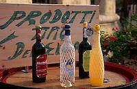 Weinverkauf in Portoferraio, Elba, Italien