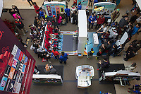 Crowds at the Nintendo Wii kiosk in the Queens Center mall in the borough of Queens in New York on Super Saturday, December 20, 2014. Super Saturday, the Saturday prior to Christmas was crowded with shoppers and is expected to generate more sales than Black Friday.  (© Richard B. Levine)