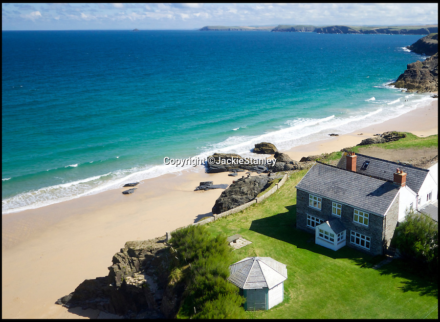 BNPS.co.uk (01202 558833)<br /> Pic: JackieStanley/BNPS<br /> <br /> The best view in England? - Stunning clifftop cottage near trendy Rock, Rick Stein's fish food capital of Padstow and arty Newquay is on the market for a cool £3 million.<br /> <br /> A pretty beach-side house with breathtaking panoramic views that make it seem like you are on the 'edge of the Earth' is on the market for £3million.<br /> <br /> Mother Ivey House is in the highly sought-after area of Trevose Head, part of Cornwall's Area of Outstanding Natural Beauty, and has spectacular uninterrupted views out to sea.<br /> <br /> The former fish sellers' store has been beautifully converted into a family home and is just a stone's throw from one of the area's blissful sandy beaches.