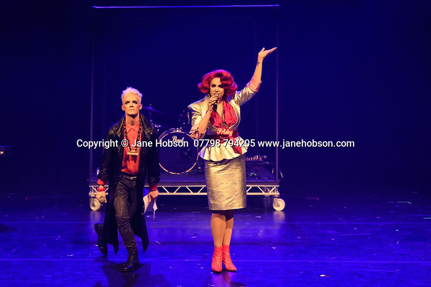 Assembly Festival Gala Launch at the Edinburgh Festival Fringe. Assembly presents a showcase of a number of productions and acts to launch their Fringe 2019, at the Assembly Hall, Edinburgh. Picture shows: Frisky and Mannish.