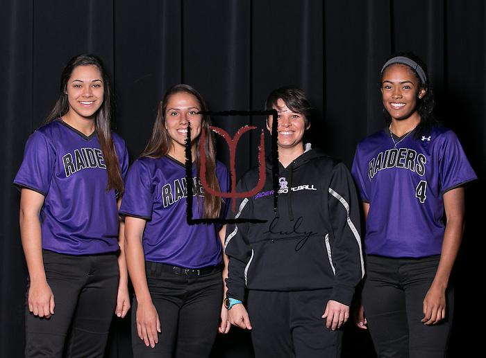 Cedar Ridge:  Breanna Hernandez, Christiana McDowell, Coach Jessica Poole, Heaven Burton.  (LOURDES M SHOAF for Round Rock Leader.)