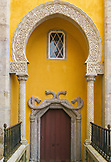 PORTUGAL, Sintra, a Moorish Arch and a door at the Pena Palace