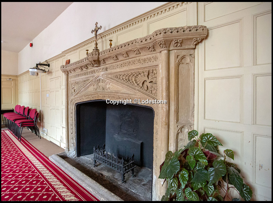 BNPS.co.uk (01202 558833)<br /> Pic: Lodestone/BNPS<br /> <br /> Stunning architectural details..<br /> <br /> Divine Location...First time on the market in 800 years - The historic Deanery of Wells Cathedral in Somerset.<br /> <br /> A historic 800 year old property offering unrivalled views of Britain's 'most beautiful and poetic' cathedral has emerged for sale for the first time.<br /> <br /> The majestic Old Deanery, overlooking Wells Cathedral, was the primary residence of 62 Deans from 1230 until 1958.<br /> <br /> For the past six decades, it has been used as the diocesan offices for the Diocese of Bath and Wells accommodating over 50 staff, who are now relocating to a new building in the outskirts of Wells, Somerset.<br /> <br /> The Grade I listed building whose earliest fabric dates back to the 12th century is on the market with estate agents Lodestone for £2.5million.