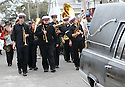Musicians follow hearse for slain filmmaker Helen Hill, 2007